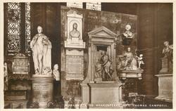 MEMORIAL TO SHAKESPEARE AND THOMAS CAMPBELL
