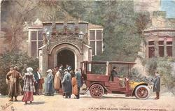 H.M. THE KING LEAVING LISMORE CASTLE FOR A MOTOR DRIVE