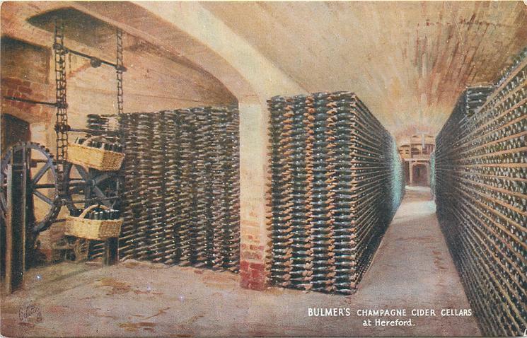 BULMER'S CHAMPAGNE CIDER CELLARS AT HEREFORD