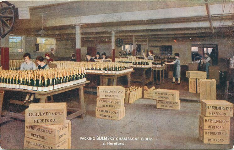 PACKING BULMER'S CHAMPAGNE CIDERS AT HEREFORD