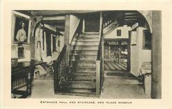ENTRANCE HALL AND STAIRCASE, NEW PLACE MUSEUM
