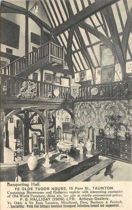 BANQUETING HALL, YE OLDE TUDOR HOUSE, 15 FORE ST., TAUNTON