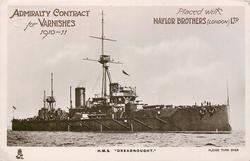 ADMIRALTY CONTRACT FOR VARNISHES 1910-11  PLACED WITH NAYLOR BROTHERS (LONDON) LTD. H.M.S. DREADNOUGHT