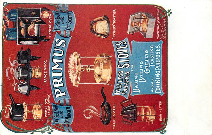 PRIMUS WICKLESS PARAFFIN STOVES FOR BAKING BOILING, GRILLING TOASTING AND ALL COOKING PURPOSES