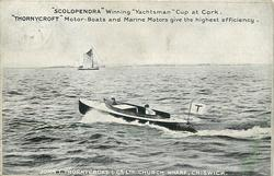 """SCOLOPENDRA"" WINNING ""YACHTSMAN"" CUP AT CORK"