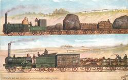GOODS TRAIN, LIVERPOOL & MANCHESTER RAILWAY 1833