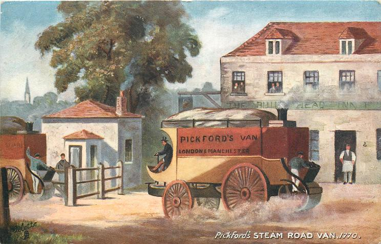 PICKFORD'S STEAM ROAD VAN, 1770