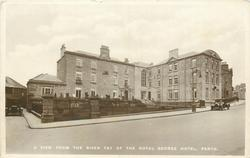 A VIEW FROM THE RIVER TAY OF THE ROYAL GEORGE HOTEL