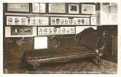 THE SOFA ON WHICH CHARLES DICKENS DIED, NOW IN THE MUSEUM