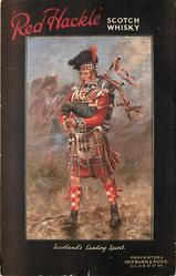 SCOTLAND'S LEADING SPIRIT. PIPE-MAJOR DUNCAN MCTAVISH PLAYING THE BLACK WATCH INTO ACTION AT WATERLOO..