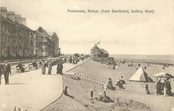 PROMENADE, REDCAR, (FROM BANDSTAND, LOOKING WEST)