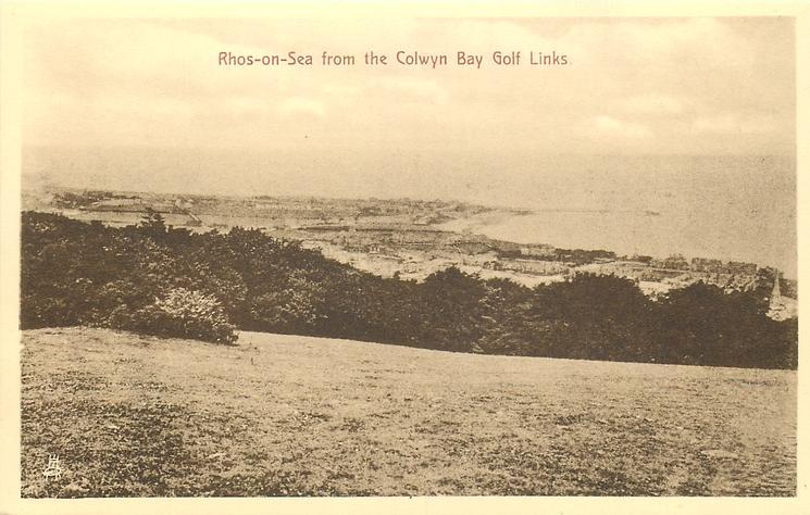 RHOS-ON-SEA FROM THE COLWYN BAY GOLF LINKS