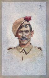 head & shoulder study of Indian Soldier, no badges or identification