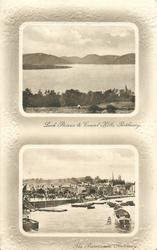2 insets LOCH STRIVEN & COWAL HILLS, ROTHESAY and THE PROMENADE, ROTHESAY