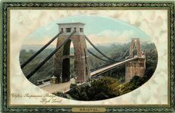 CLIFTON SUSPENSION BRIDGE, HIGH LEVEL