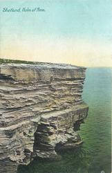 HOLM OF NOSS  cliffs only on left
