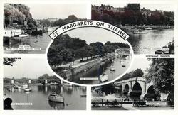 5 insets THE RIVER AND STAR AND GARTER HOME and RICHMOND LANDING STAGE and THE PROMENADE and THE LOCK BRIDGE and RICHMOND BRIDGE