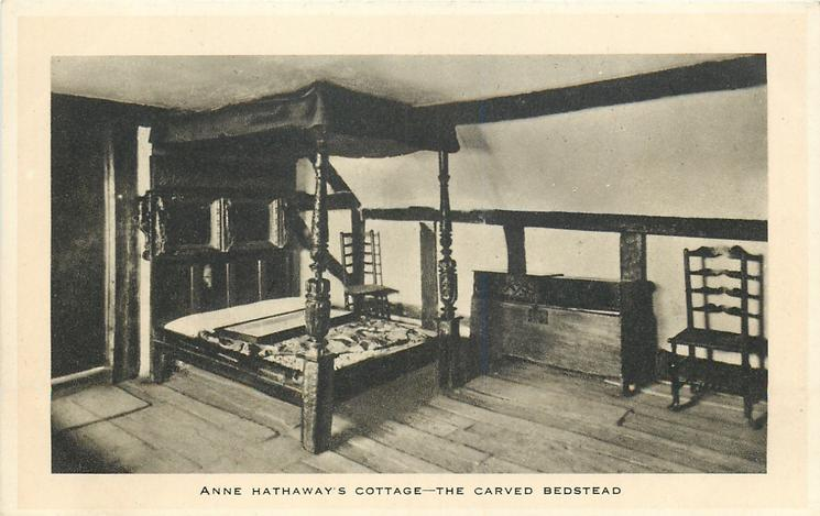 ANNE HATHAWAY'S COTTAGE-THE CARVED BEDSTEAD