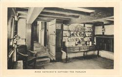 ANNE HATHAWAY'S COTTAGE-THE PARLOUR  chair left, sideboard right