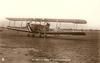 AN IMPERIAL AIRWAYS PASSENGER AEROPLANE  on airfield, facing left/front , G-EBIX