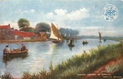 FISHING CONTEST AT HORNING, NORFOLK BROADS,