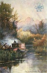 THE NORFOLK BROADS, AN EEL FISHERMAN