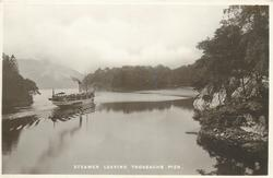 STEAMER LEAVING TROSSACHS PIER
