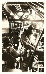 HANDLEY PAGE HARROW, THIS VIEW SHOWS THE INTERIOR OF A MODERN HEAVY BOMBER//ALSO BE SEEN