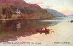 CONISTON STATION  CONISTON LAKE & BRANTWOOD (CHAR FISHING).