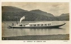 """S.Y """"GONDOLA"""" ON CONISTON LAKE  no sail boat behind"""