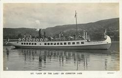 """S.Y. """"LADY OF THE LAKE"""" ON CONISTON LAKE"""