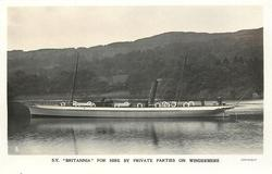 """S.Y. """"BRITANNIA"""" FOR HIRE BY PRIVATE PARTIES ON WINDERMERE"""