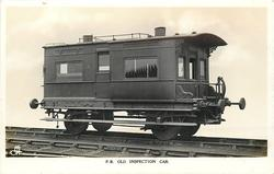 F.R. OLD INSPECTION CAR