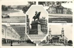 5 insets THE LAKE/ROUNDHAY PARK/THE MANSION, ROUNDHAY PARK/EDWARD, THE BLACK PRINCE/THE CITY STATION/THE CIVIC HALL