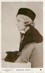 MADELEINE CARROLL  half length, facing left