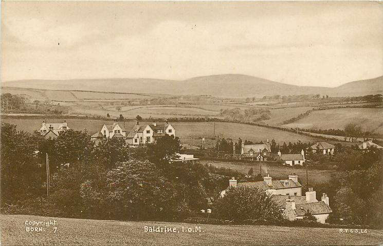 BALDRINE, I.O.M. houses below front right