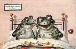 DIE LIEBE GEHT DURCH DEN MAGEN two frogs