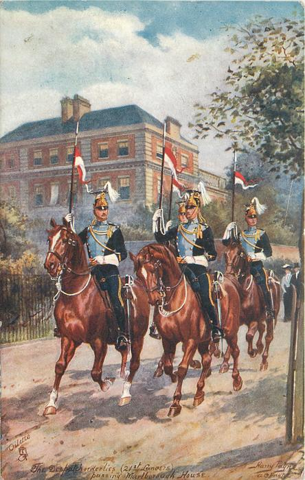 THE DESPATCH ORDERLIES, (21ST LANCERS),  PASSING MARLBOROUGH HOUSE