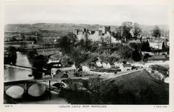 LUDLOW CASTLE FROM WHITECLIFFE