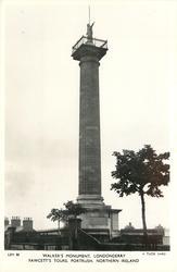 WALKER'S MONUMENT, FAWCETT'S TOURS, PORTRUSH