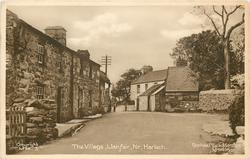 THE VILLAGE, LLANFAIR, NR. HARLECH  houses left