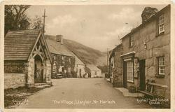THE VILLAGE, LLANFAIR, NR. HARLECH  lych gate left