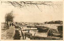 THE RIVER BANKS, boats on right