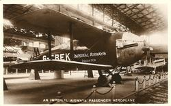 AN IMPERIAL AIRWAYS PASSENGER AEROPLANE (in the air ministry exhibit at the 1925 Wembley exhibition)
