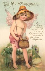 COY CUPID IS FISHING, MY HEART IS THE BAIT, OH LET IT NOT, LOVED ONE, FOR YOURS LONGER WAIT