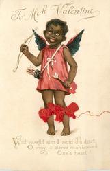 WID CAREFUL AIM I SEND DIS DART, O, MAY IT PIERCE MAH LOVED ONE'S HEART!  black cupid