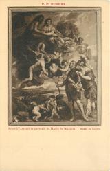 HENRI IV. RECOIT LE PORTRAIT DE MARIE DE MEDICIS