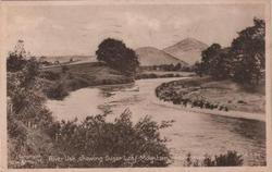 RIVER USK, SHOWING SUGAR LOAF MOUNTAIN