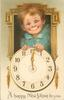A HAPPY NEW YEAR TO YOU  insert of boy's face above clock  image^^^