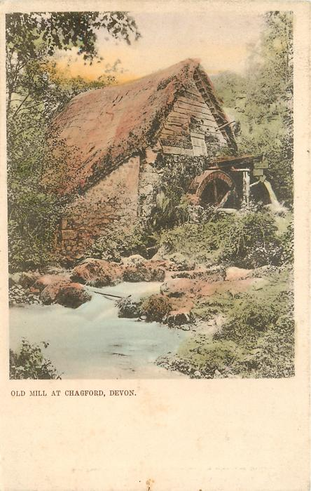 OLD MILL AT CHAGFORD, DEVON